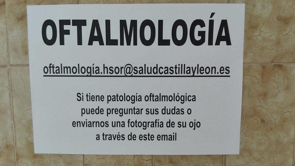 """""""Si tiene patología oftalmológica puede enviarnos una fotografía de su ojo"""": Así está la Sanidad pública de Castilla y León"""