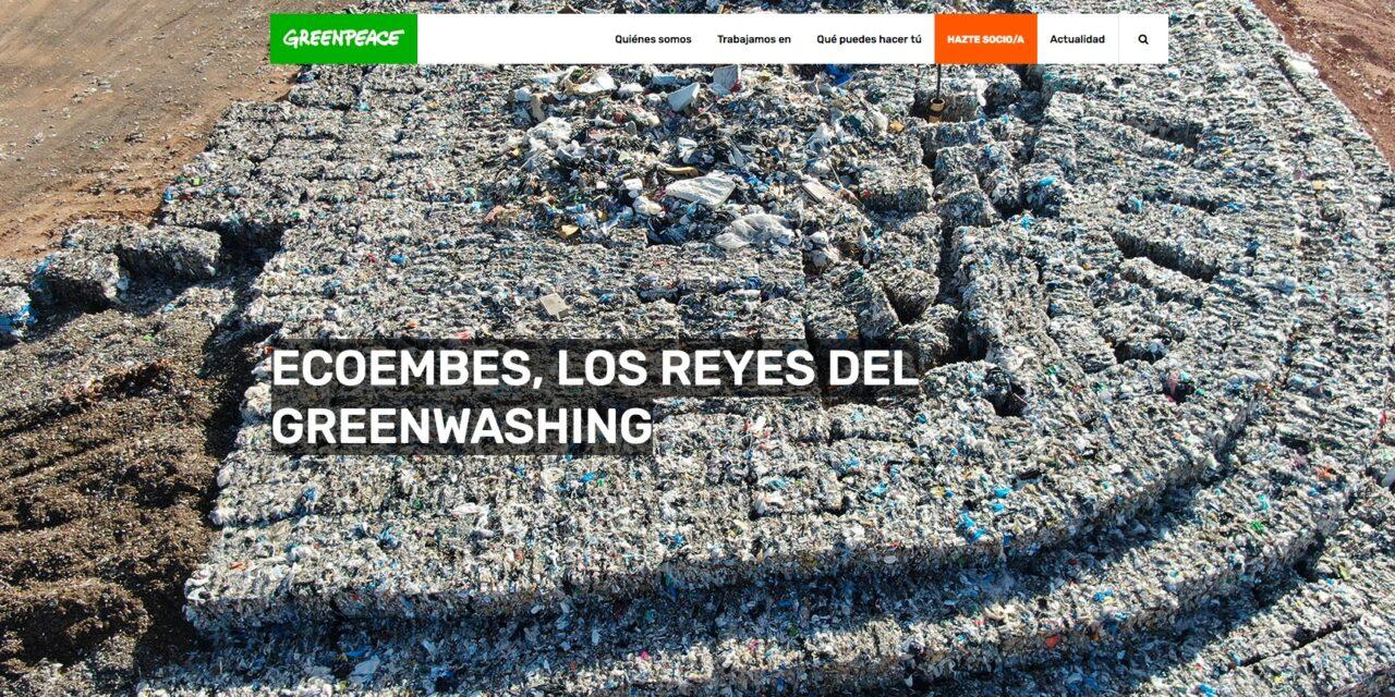 """Greenpeace le saca la basurilla a Ecoembes, la recicladora de envases de plástico y cartón """"formada por las principales empresas contaminantes del mercado"""""""