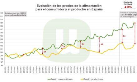 La brecha del precio de los alimentos entre origen y destino alcanza su máximo durante la pandemia: entre las causas, la concentración de la distribución, según la Unión