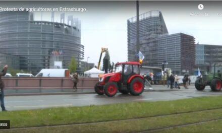 """El campo protesta ante el Parlamento Europeo: """"La PAC debe ayudar a mantener a los agricultores en su territorio"""""""
