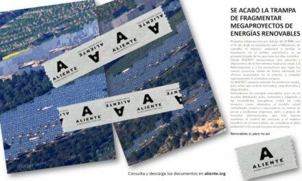 RenovablesSíperoNOasí: Ve la luz Aliente, alianza por unas renovables respetuosas con el territorio y la vida (y en contra de los megaproyectos)