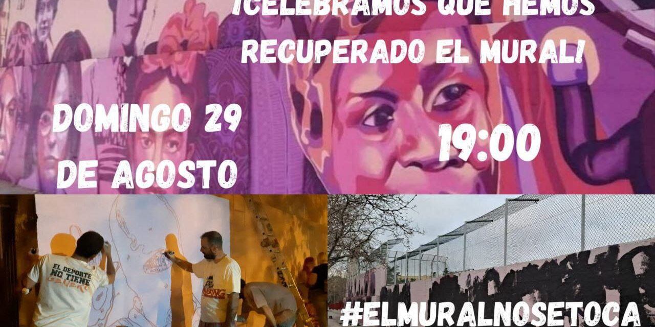 """La Junta de Distrito no autoriza la participación ciudadana en la reconstrucción del mural feminista de Ciudad Lineal, vandalizado el 8M: """"Que su historia no quede oculta bajo manchas negras"""""""